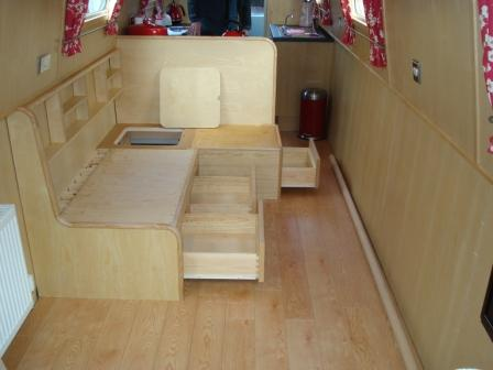 Double Berth showing drawers