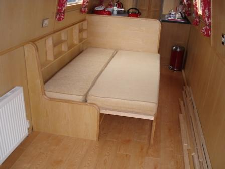 L Shaped Bed Extended For Use
