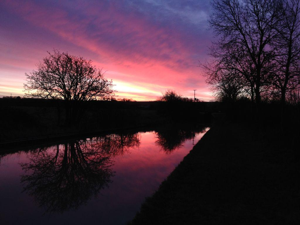 Christmas Eve Sunrise - Oxford Canal