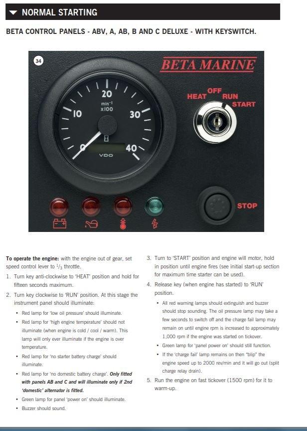 beta bv1505 glow plug advice please boat building maintenance